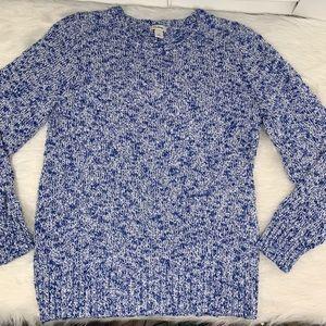 L.L. Bean Blue Cotton Ragg Sweater, Marles